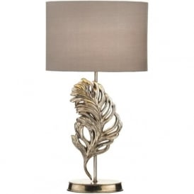 GLE4232/X Glebe 1 Light Table Lamp Antique Silver