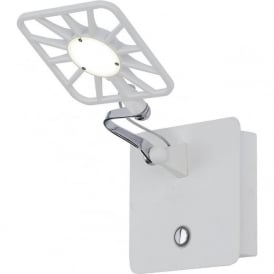 7262WH LED Switched Wall Light White