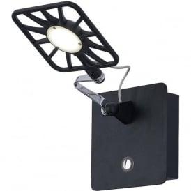 7262BK LED Switched Wall Light Black