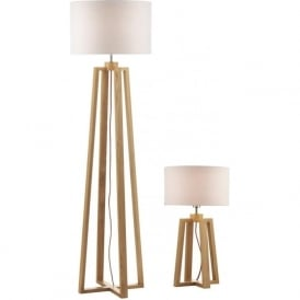 PYR4943 Pyramid Floor and Table Lamp Wood