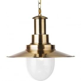 5301AB Fisherman XL 1 Light Ceiling Pendant Antique Brass
