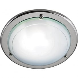 702CC Jupiter 1 Light Flush Ceiling Light Polished Chrome