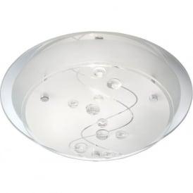 3020-25CC 1 Light Flush Ceiling Light Glass