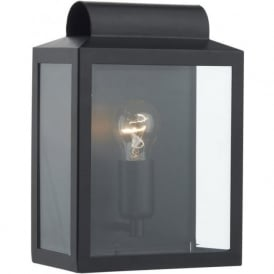 NOT2122 Notary 1 Light Outdoor Wall Light Black IP44