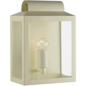 NOT2133 Notary 1 Light Outdoor Wall Light Cream IP44