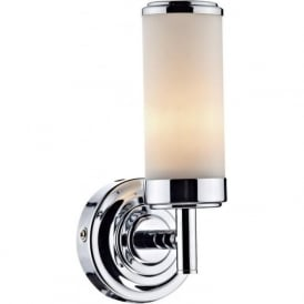 CEN0750 Century 1 Light Bathroom Switched Wall Light IP44 Polished Chrome