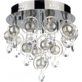 CLO1367 Cloud 9 Light Ceiling Light Black Chrome Finish