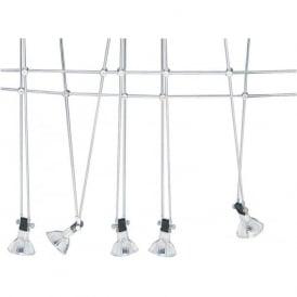 1744 Cable Kits 5 Light Ceiling Pendant Polished Chrome