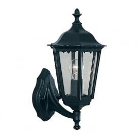 82530BK Alex 1 Light Outdoor Lantern Wall Light Black IP44