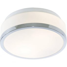 7039-28CC Flush 2 Light Flush Ceiling Light Polished Chrome IP44