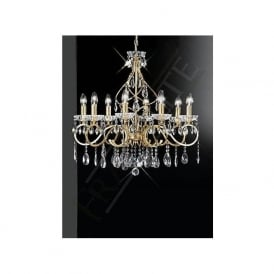FL2159/8 Chiffon 8 Light Crystal Ceiling Light Gold