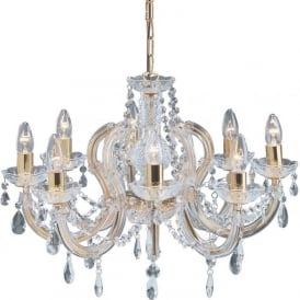 699-8 Marie Therese 8 Light Chandelier Polished Brass