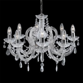 399-8 Marie Therese 8 Light Chandelier Polished Chrome
