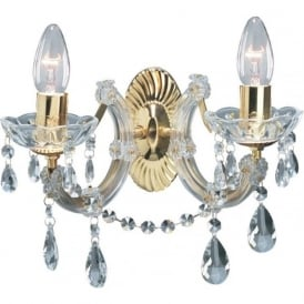 699-2 Marie Therese 2 Light Wall Light Polished Brass