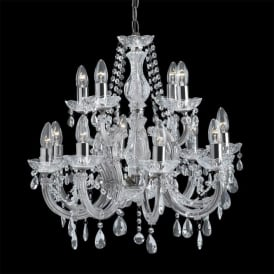 399-12 Marie Therese 12 Light Chandelier Polished Chrome