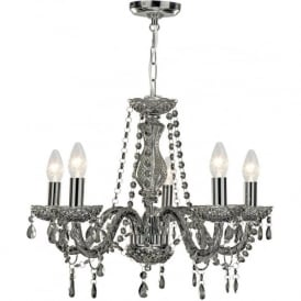 8695-5GY Marie Therese 5 Light Chandelier Smoked Grey