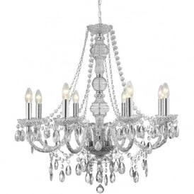 8888-8CL Marie Therese 8 Light Chandelier Polished Chrome