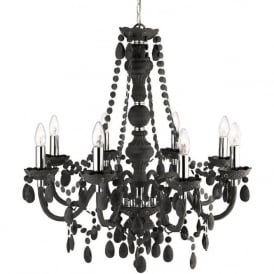 8888-8GY Marie Therese 8 Light Chandelier Grey