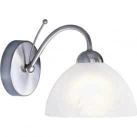 1131-1SS Milanese 1 Light Wall Light Satin Silver