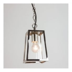 7113 Calvi Pendant 1 Light Outdoor Lantern Polished Nickel IP23
