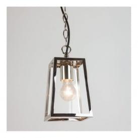 7113 Calvi Pendant 1 Light Outdoor Lantern Polished Nickel IP23