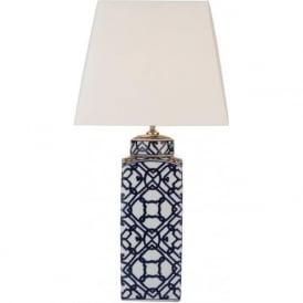 MYS4223/S1101 Mystic 1 Light Table Lamp Ceramic Blue/White