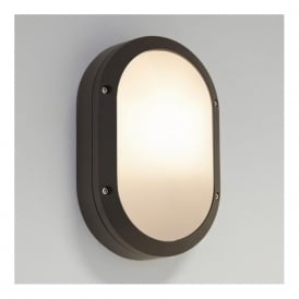 7124 Arta Oval Outdoor Wall Light Black IP54
