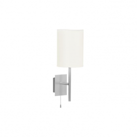 82809 Sendo 1 Light Switched Wall Light Brushed Aluminium
