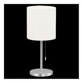 82811 Sendo 1 Light Table Lamp Brushed Aluminium