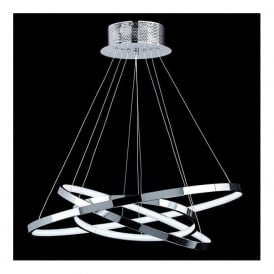 KLINE-3CH Kline LED Ceiling Pendant Polished Chrome