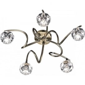 BAB5475 Babylon 5 Light Semi Flush Ceiling Light Antique Brass