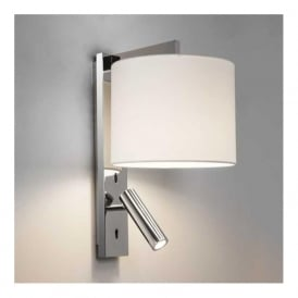 7457 Ravello LED 2 Light Reader Wall Light Polished Chrome