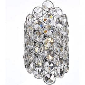 FRO0750 Frost 1 Light Crystal Wall Light Polished Chrome