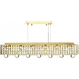 MAT0635 Matrix 6 Light Crystal Pendant Gold