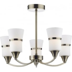 DUB0575/LED Dublin 5 Light Ceiling Light Antique Brass