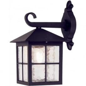 BL18 Winchester 1 Light Outdoor Wall Light Lantern Black IP43