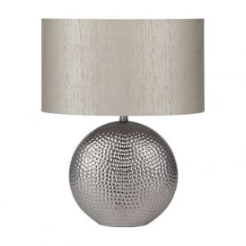 Mable Hammered Ceramic Table Lamp Chrome