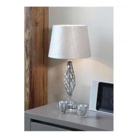 Jenna Metal Table Lamp Silver