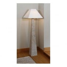 503 Raffles Rattan Pyramid Floor Lamp