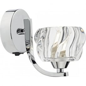 IVY0750 Ivy 1 Light Switched Wall Light Polished Chrome