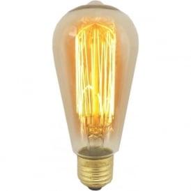 01477 ES/E27 40 Watt Vintage Squirrel Cage Bulb