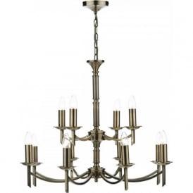 AMB1275 Ambassador 12 Light Ceiling Light Antique Brass
