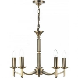 AMB0575 Ambassador 5 Light Ceiling Light Antique Brass