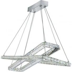 7123CC Clover LED Crystal Pendant Polished Chrome