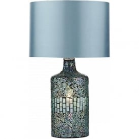 GUR4223 Guru 2 Light Mosaic Table Lamp Blue