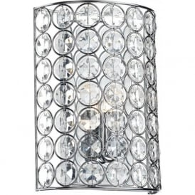 GIR0750 Girona 1 Light Wall Light Polished Chrome
