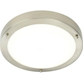 54675 Portico LED Flush Ceiling Light Satin Nickel