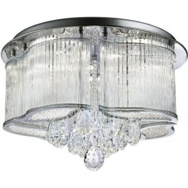7985-48CC Mela LED Ceiling Light Polished Chrome