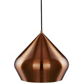 8683CU Vibrant 1 Light Ceiling Pendant Copper