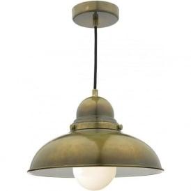DYN0142 Dynamo 1 Light Ceiling Light Weathered Brass